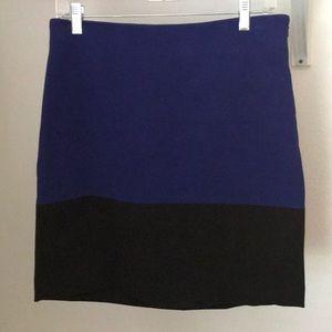 Blue with black trim Loft skirt